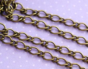 Sale Lead Free 5 Feet Antique Bronze Mother-Son Chains CHSM021Y-AB