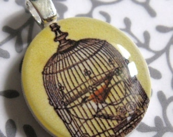 Antique Birdcage Mini Pendant