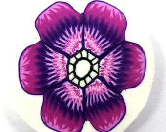 Polymer clay purple flower cane