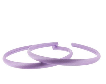 10mm Satin Covered Headbands in ORCHID - 6 pieces