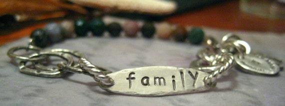 Mixed Media FAMILY Bracelet