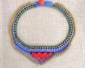 bib Bollywood inspired necklace