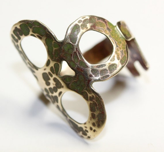 imj key ring simple hammered brass ring