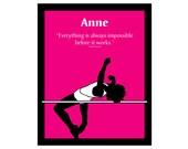 Name Art Customized Digital Print Hunt Greene Quote High Jumper Girl