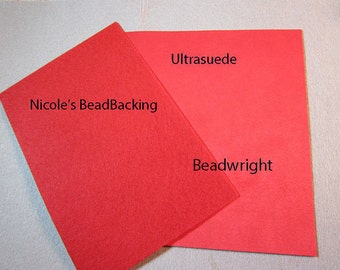 Ultrasuede with FREE Nicoles BeadBacking Great Combo for Beading True Red