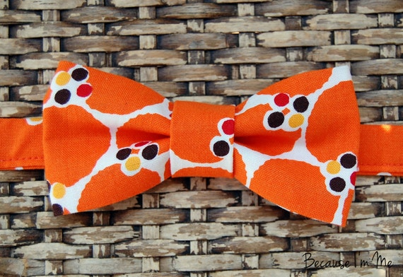 Because I'm Me orange dot bowtie for boys and men