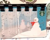 Starbucks (SNOWMAN 2011) ReCycled Giftcard Notebook  ---  no value on card