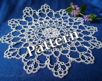 "Tatting Pattern ""Jubiloso Doily"" PDF Instant Download"