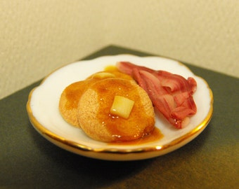 Pancake and Bacon Breakfast Platter--MADE TO ORDER miniature