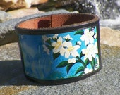 Orange Blossoms - Leather - Cuff