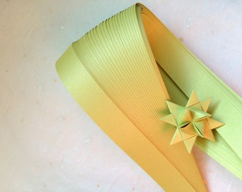 """5/8"""" Weaving Star Paper~ Pearl Chartreuse (50 strips)"""