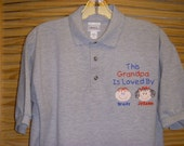 Custom Personalized S, M, L, XL, 2X, 3x or 4X Grandpa Dad Daddy Papa Polo Shirt 2 Faces Your Choice of Color