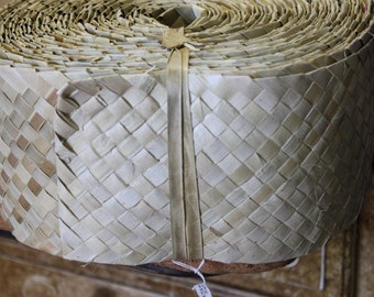 Lauhala belt, woven panandus 6 inch wide, 15 cm wide Lauhala, woven, Belting, ribbon, Tahitian costume supply, Polynesian crafts
