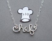 chef necklace - all sterling silver