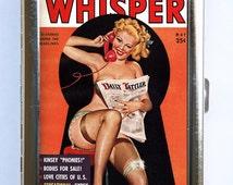 Pin up pinup Cigarette Case Wallet Business Card Holder retro rockabilly