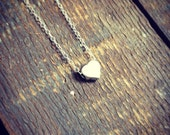 just a little love necklace | sterling silver charm necklace | heart necklace | gift for her
