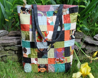 PDF Bag PATTERN, One Charm Pack or Scraps, Teacher's Pet