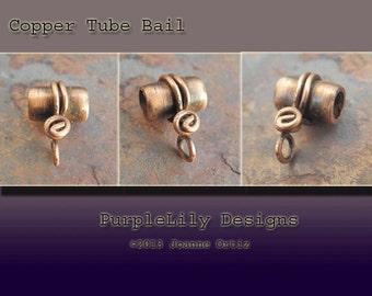 Handmade Copper tube bail, PurpleLily Designs, SRA
