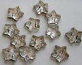 Reserved for Kathy 24 Vintage Glass Star Buttons