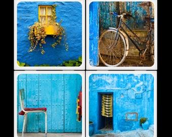 Eyeshoot Morocco Blue Two Ceramic Coaster Set