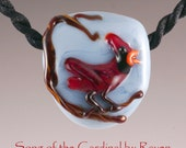 Reserved for Bill P.     Song of the Cardinal  Lampwork Necklace