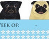 Pug Weekly Planner - Print It Yourself - PDF Document