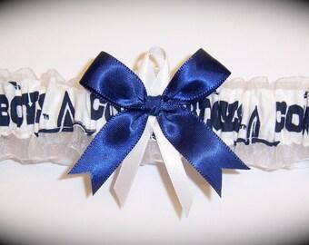 Dallas Cowboys Wedding Garter    Handmade  Toss   Bridal nw1