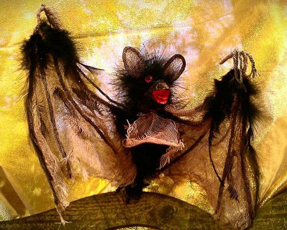 Dame Darcy , Batty, Gothic, Lolita, Magic, Whimsical, Witch Doll Pet Bat