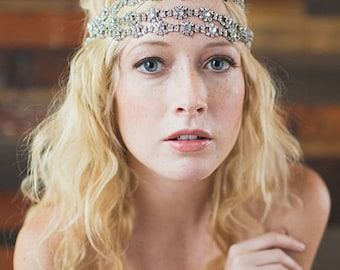 Bridal Headpiece, Bridal Headband, Hair Jewelry, Wedding Headband, Hair Accessories, Crystal Headband, - WILLOW
