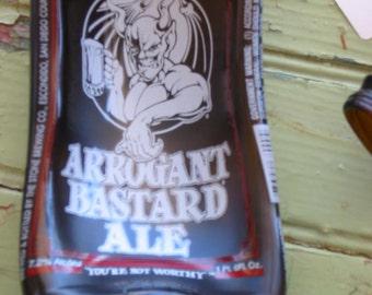 Arrogant Bastard Ale Slumped Bottle