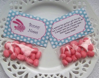 Printable Easter Bunny Noses Mini Bag Toppers - Instant Download