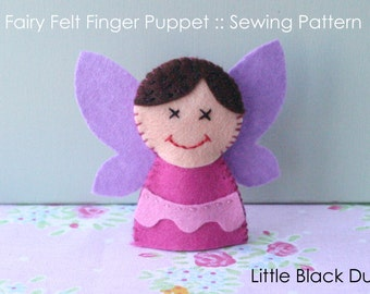 Pattern: Fairy Felt Finger Puppet