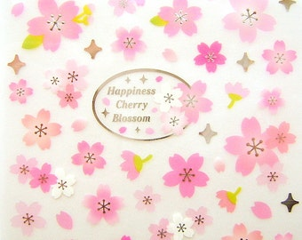Cherry Blossom Stickers - Japanese Stickers - Flower Stickers - Pink Stickers - Traditional Japanese - Sakura Stickers S8