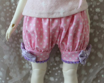 Pick Your Size Fairy Kei Bloomers Pink Purple Cute Lolita BJD Doll Art Body Leekeworld MSD YoSD Kaye Wiggs SD Super Dollfie Minifee Mikhaila