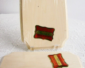 Vintage Unfinished Wood Basswood Plaques Mountings Craft Supplies