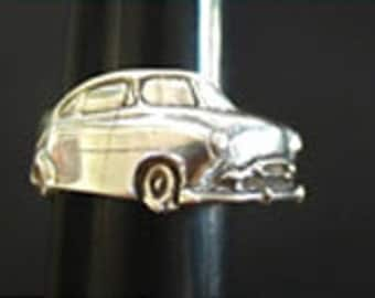 1949 Chevy Angled Wrap Ring in Sterling Silver