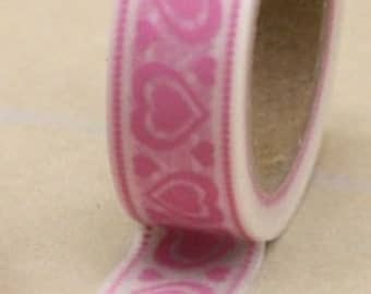 Pink Heart Washi Tape --
