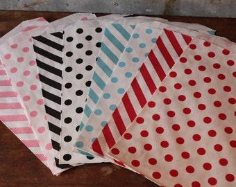 Large Party Favor Bags  -- Set of 12 - U Choose Colors --  6.25X9.25