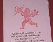 6 Gift Tags Valentine Day Cupid Pooh