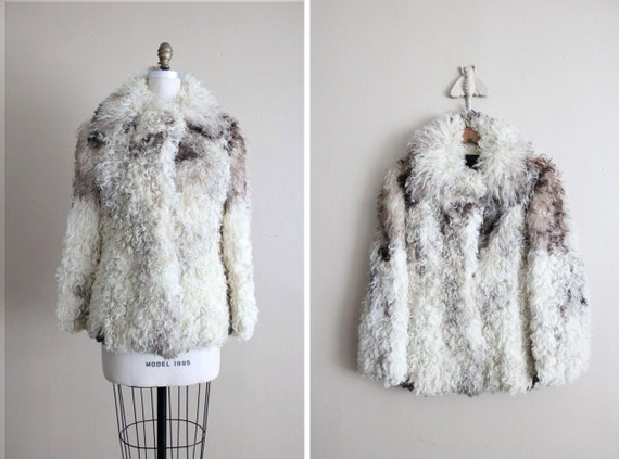SALE - 1960s fur coat / curly lamb coat / mongolian lamb coat