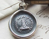 Till Death Do Us Part Wax Seal Necklace - Attached Until Death - antique french  wax seal jewelry Woodbine & Oak, marriage and engagement