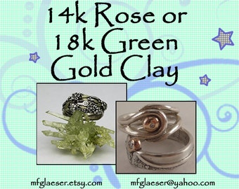 Colored Gold Alloy Clay Many Options