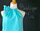 SAMPLE - Ladies Pillowcase DRESS - Dupioni Silk - Will fit size S / M - by Boutique Mia and More - Ready To Ship