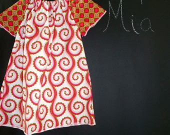 SAMPLE - Aline Mini Dress or Top - Amy Butler - Will fit Size 12 month up to a 5T - by Boutique Mia and More - Ready To Ship