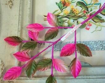 Sale / Vintage Leaves / One Sprig / Fifteen Leaves / Made in Japan / Variegated