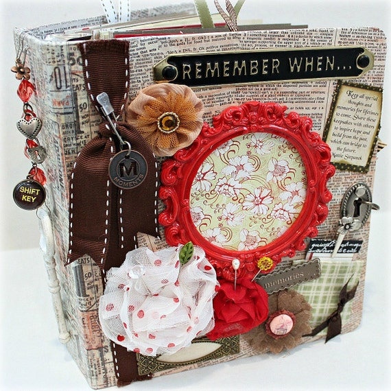 REMEMBER WHEN 3-Ring Binder Chipboard Scrapbook Album With