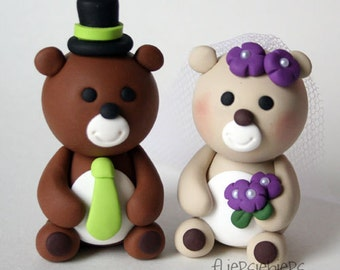 Custom Bear Wedding Cake Topper
