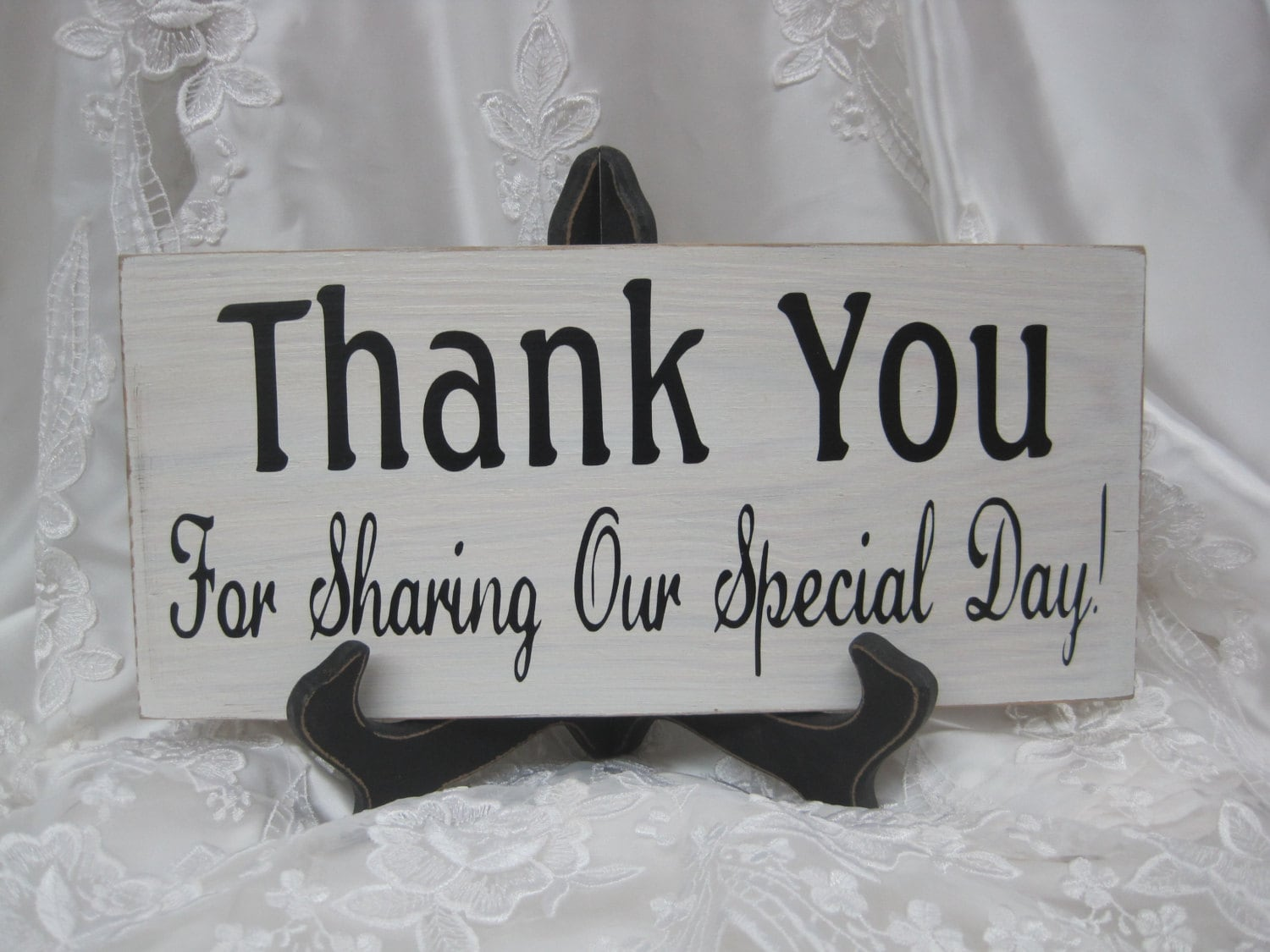 Custom Wedding Accessories: Rustic Wedding Sign Thank You for ...