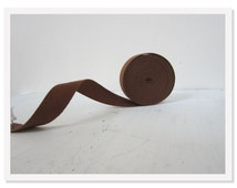 "Medium Brown Twill Tape, 3 /4 "" wide, BrownTwill Ribbon, Cotton Twill Tape-Medium Twill Ribbon"