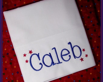 Stars Initial Personalized Pillowcase